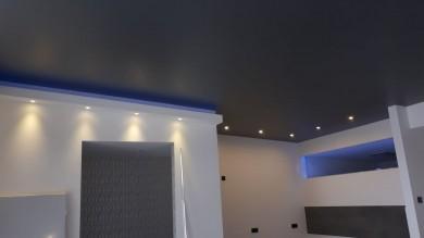 Spanndecke matt steal, Deckenbespannung, Raumdecke, Luxusdecke Spanndecke Wohnbereich