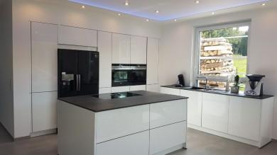 Spanndecke weiß matt, Deckenbespannung, Raumdecke, Decke weiß matt, Spanndecke Küche, Raumdecke,